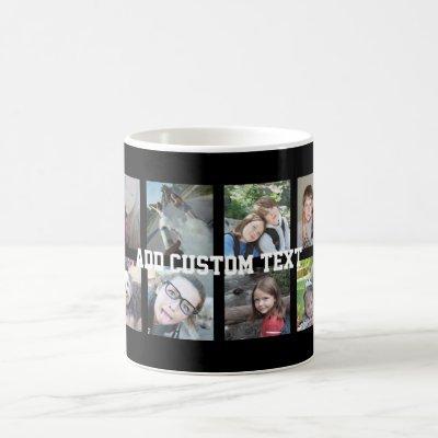 12 Photo Collage with Black Background Coffee Mug