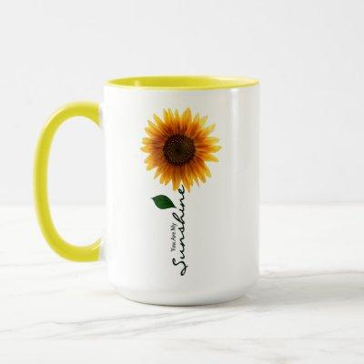 15 oz. Combo Mug - You Are My Sunshine