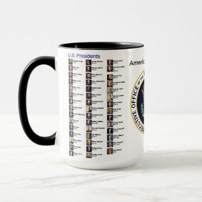 15oz Custom Presidents Coffee Mug By Zazz_it