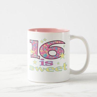 16 is Sweet Two-Tone Coffee Mug