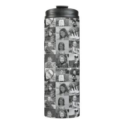 16 Photo Collage - You square photos or instagram Thermal Tumbler
