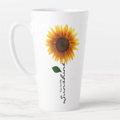 17 oz. Latte Mug - You Are My Sunshine