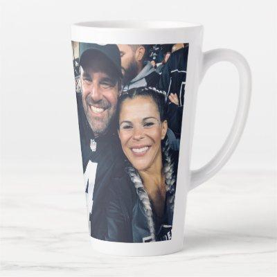 17oz Latte Love Custom Photo Mug By Zazz_it