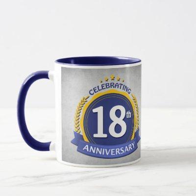 18th Wedding Anniversary Coffee Mug