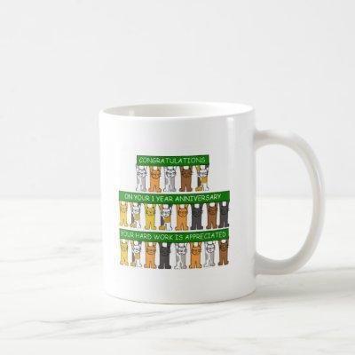 1 Year Work Anniversary for Employee Coffee Mug