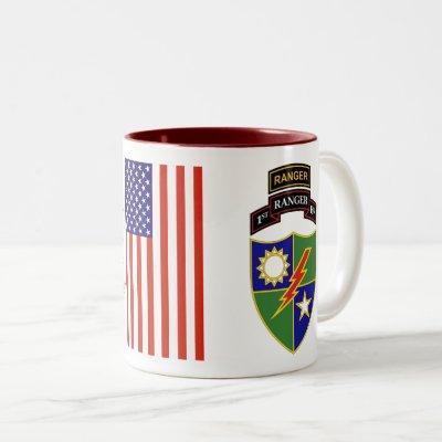 1st Battalion - 75th Ranger w/Tab Two-Tone Mug