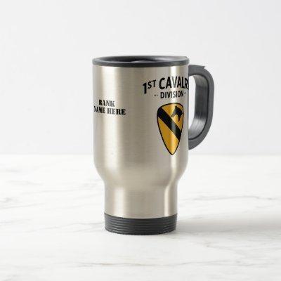 1st Cavalry Division Badge Travel Mug