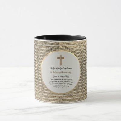 1st Ordination Anniversary Cotton- ANY CLERGY Mug