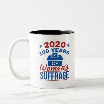 2020 100 Years Of Women's Suffrage Two-Tone Coffee Mug