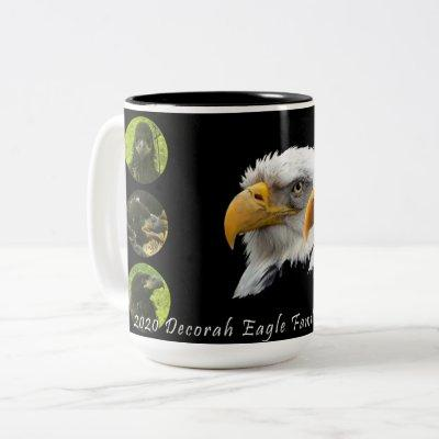 2020 Decorah Eagle Family Two-Tone Coffee Mug