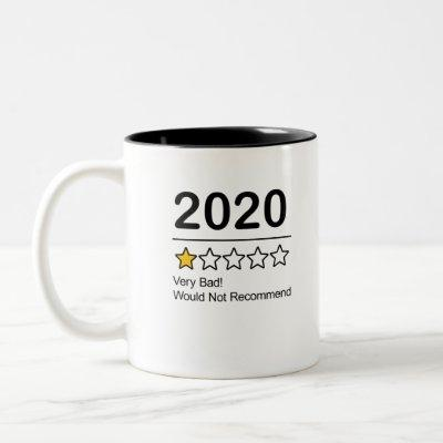 2020 One Star Rating Two-Tone Coffee Mug