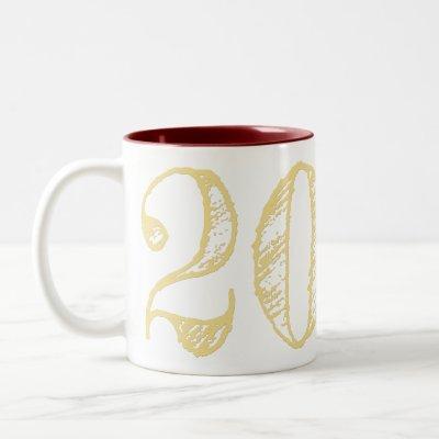 2022 Faux Gold Typography Coffee Tea New Year Mug