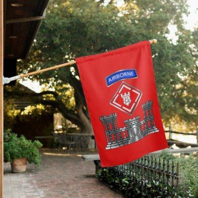 20th Engineer Brigade-Airborne Castle House Flag