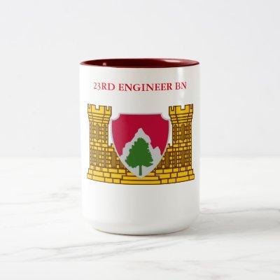 23RD ENGINEER BATTALION  Two-Tone COFFEE MUG