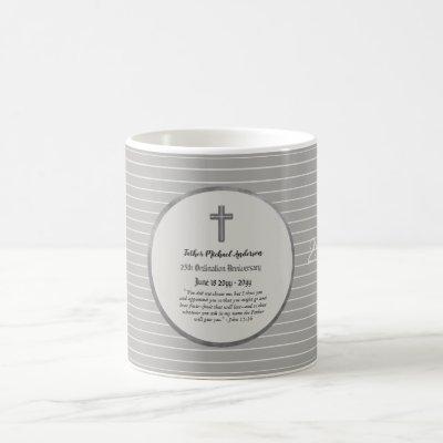 25th Ordination Anniversary SILVER - ANY CLERGY Coffee Mug