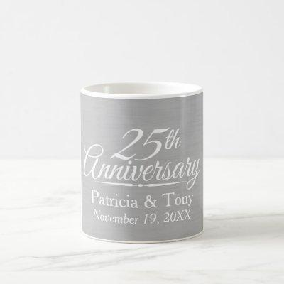 25th Wedding Anniversary Personalized Coffee Mug