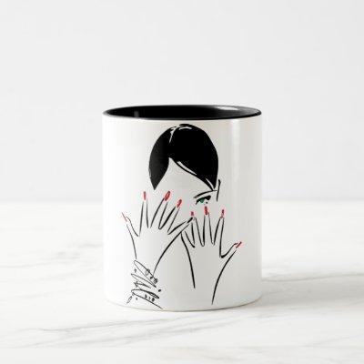 2-ton mug for beauty salon