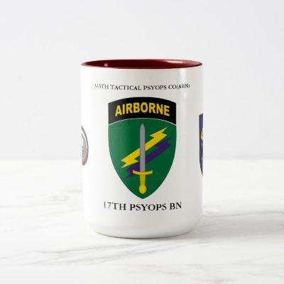345TH TACTICAL PSYOPS CO(ABN), 17TH PSYOPS BN Two-Tone COFFEE MUG