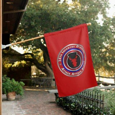 34th Infantry Division  House Flag
