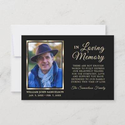 """3.5""""x5"""" Sympathy Funeral Memory THANK YOU Photo"""