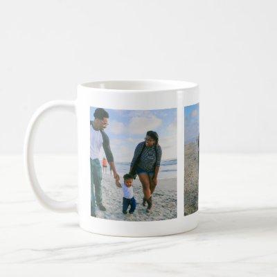 3 PHOTOS Happy Family Holidays Treasured Memories Coffee Mug