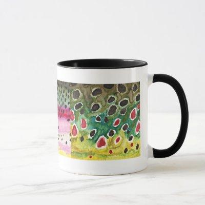 3 Trout Skins: Brook, Rainbow, Brown - Fly Fishing Mug