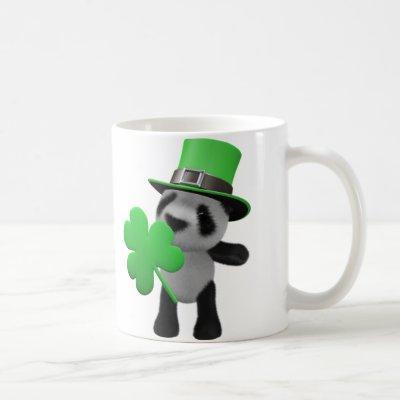 3d Cute Panda Leprechaun (editable) Coffee Mug