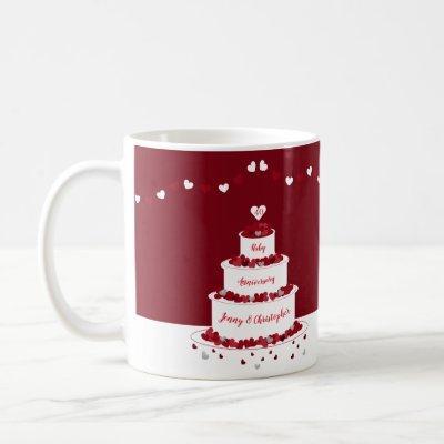 40th Ruby Wedding Anniversary cake Coffee Mug