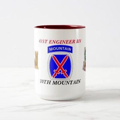 41ST ENGINEER BATTALION 10TH MOUNTAIN MUG