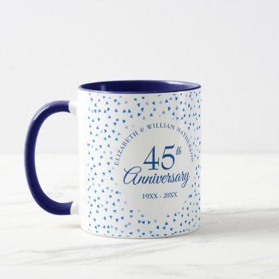 45th 65th Wedding Anniversary Love Hearts Confetti Mug