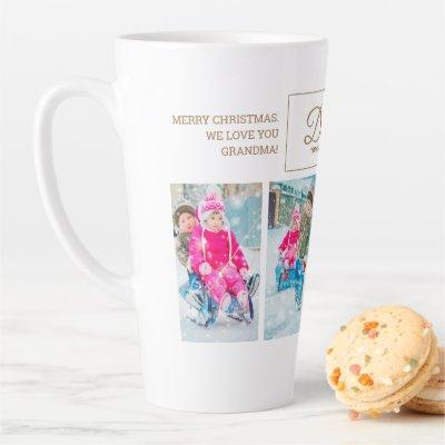 4 Christmas Photo Dashing Through Snow Grandparent Latte Mug