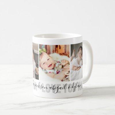 4-Photo Love You Nana Grandchildren's Names Coffee Mug