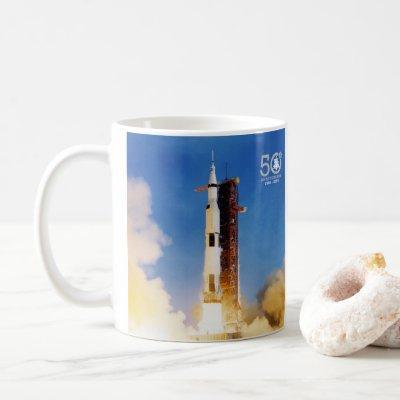 50th Anniversary Apollo 11 Moon Landing, Saturn V: Coffee Mug