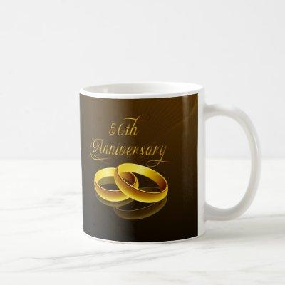 50th Anniversary | Gold Script Coffee Mug
