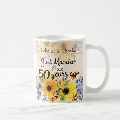 50th Golden Wedding Anniversary Coffee Mug