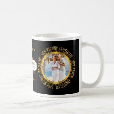 50th Golden Wedding Anniversary Photo Date Coffee Mug