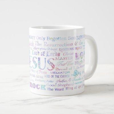 57 Names of JESUS JUMBO Mug - Multicolored Pastel