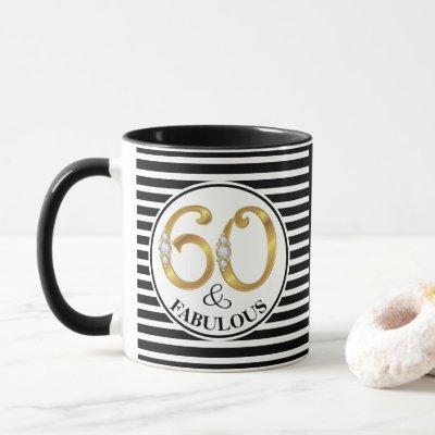 60 & Fabulous Birthday Cup/Mug Mug