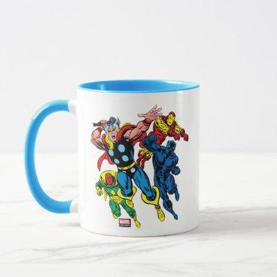 60's Marvel Avengers Graphic Mug
