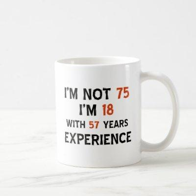 75th cool birthday designs coffee mug