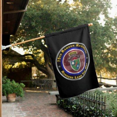 "75th Ranger Regiment ""Rangers Lead The Way""  House Flag"