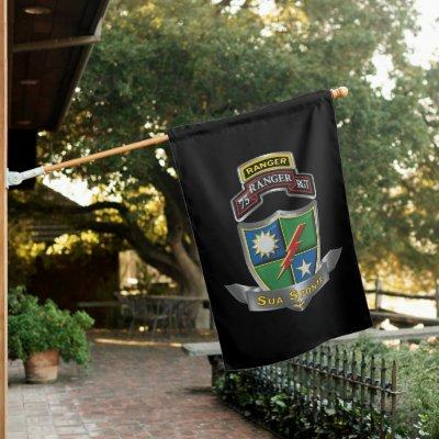 75th Ranger Regiment Sua Sponte House Flag