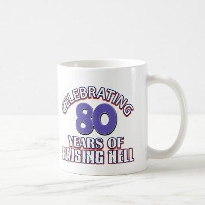 80 years of raising hell coffee mug