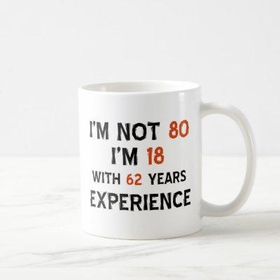 80th birthday designs coffee mug