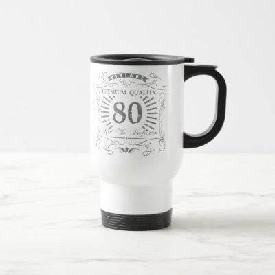 80th Birthday Gag Gift Travel Mug