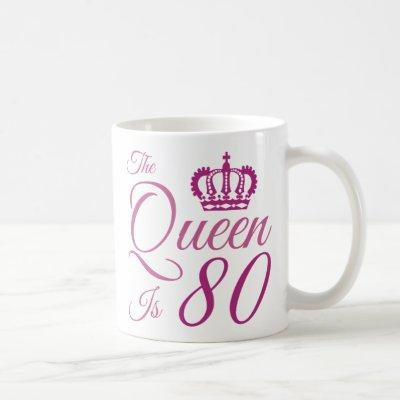 80th Birthday Queen Coffee Mug