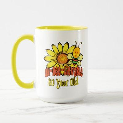 80th Birthday - Unbelievable at 80 Years Old Mug