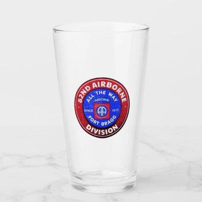 82nd Airborne Division Antique Logo Glass