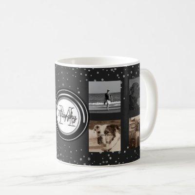 8 Photo Collage | Custom Instagram Family Dots Coffee Mug