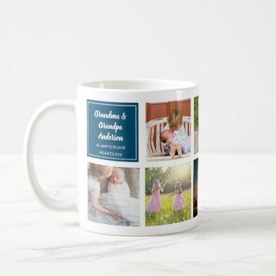 9 x Photo Collage Grandkids Gift To Grandparents Coffee Mug